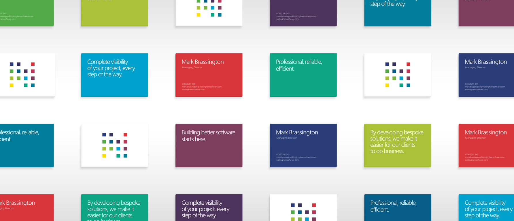 Business card and flyer designs