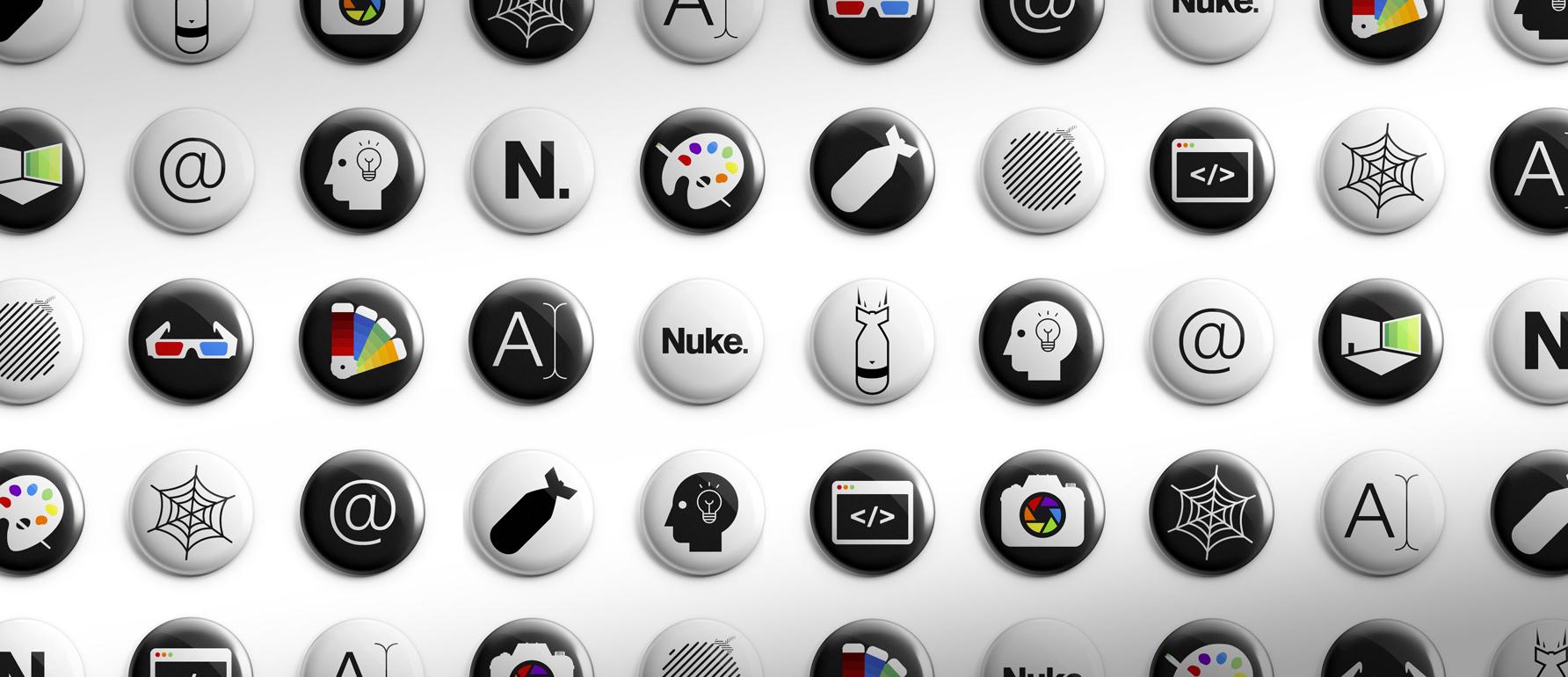 Series of pin badge designs