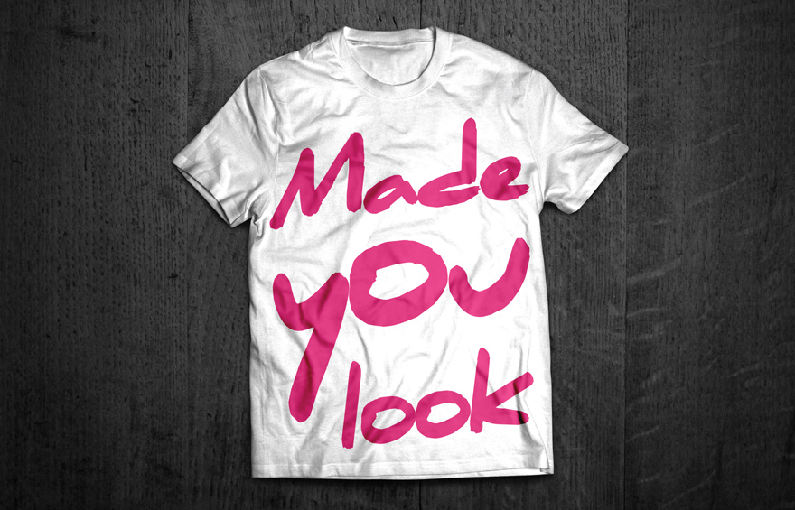 Made you look t-shirt brand concept design