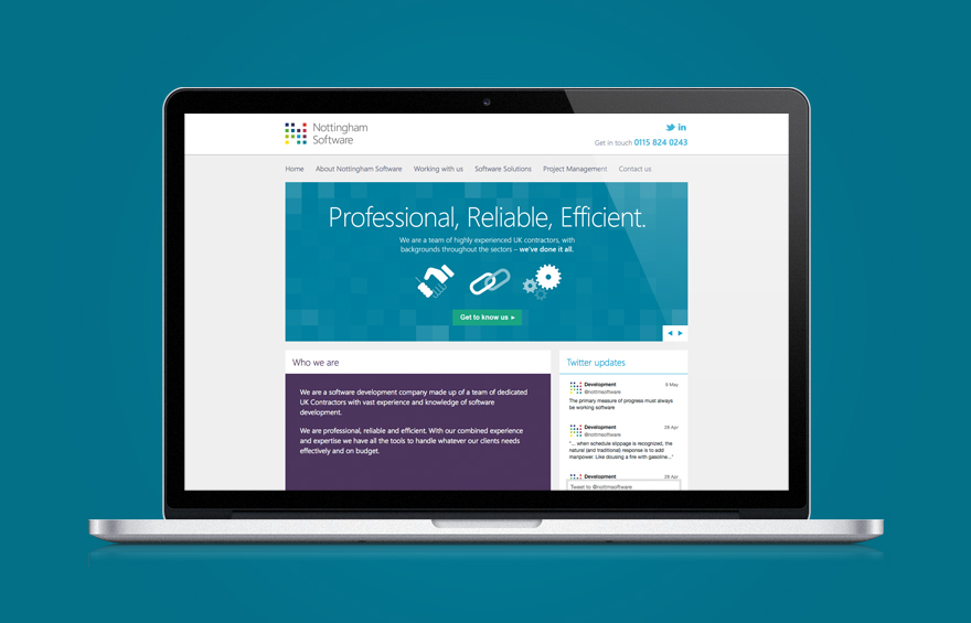 Web design example on laptop