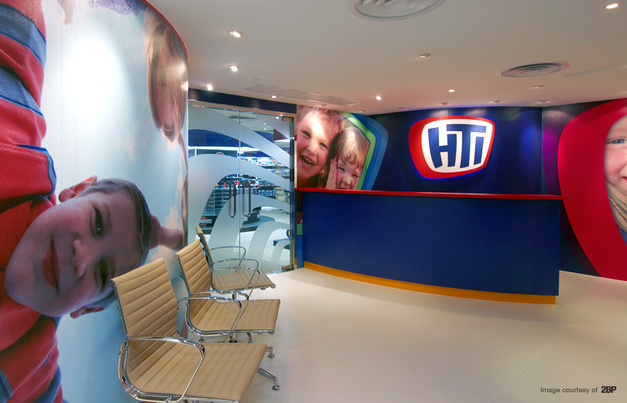 Photo of Hong Kong showroom graphics