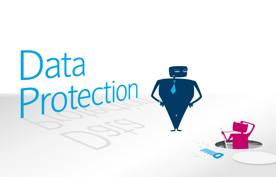 Illustration and Character Design concepts for Data Protection