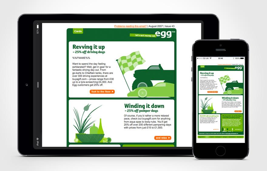 egg.com web design - home page