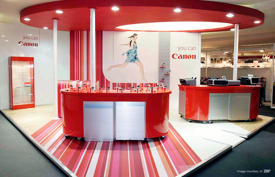 Photo of Canon stand at London Fashion Week