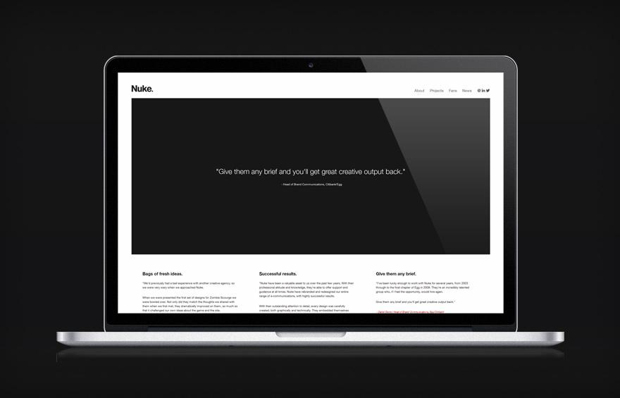 Website redesign example