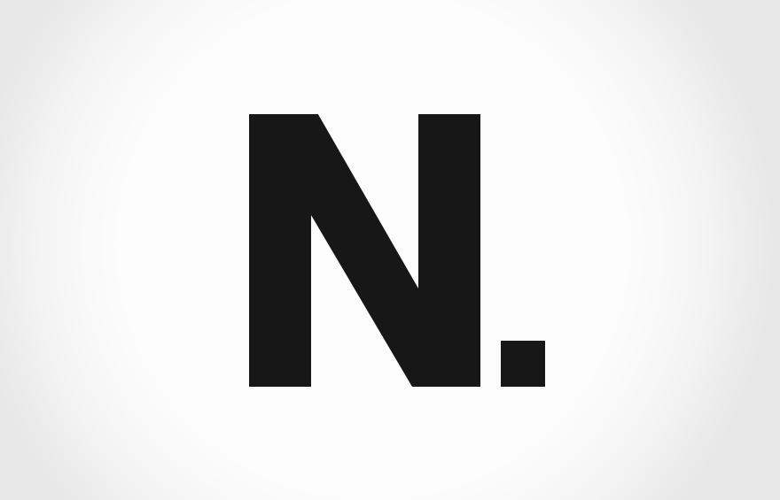 Nuke icon graphic N.